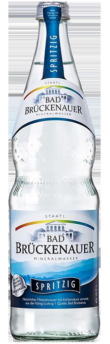 Flaschenabbildung Bad Brückenauer Mineralwasser spritzig
