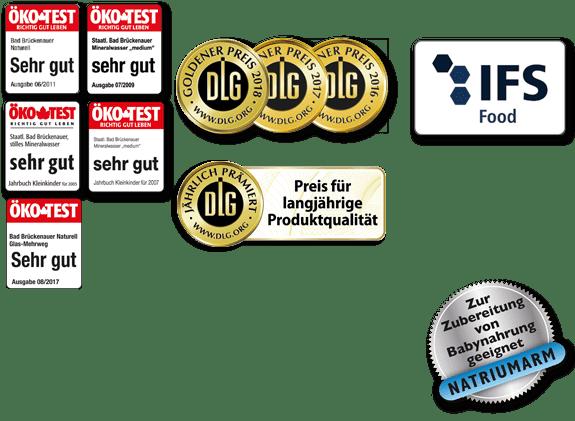 Auszeichnungen Öko Test DLG IFS