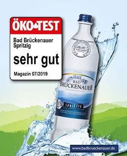 Bad Brückenauer Mineralwasser spritzig Sehr gut bei Öko Test